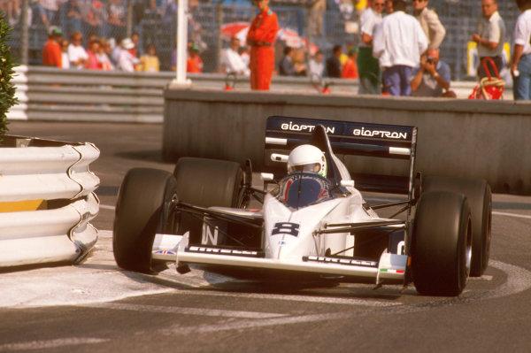 Monte Carlo, Monaco.4-7 May 1989.Stefano Modena (Brabham BT58 Judd) 3rd position at the Swimming Pool.Ref-89 MON 35.World Copyright - LAT Photographic