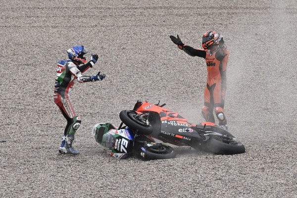 Danilo Petrucci, KTM Tech3, Alex Marquez, Team LCR Honda crash.