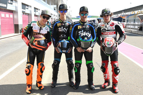 Andrea Migno, Bester Capital Dubai, Celestino Vietti, Sky Racing Team VR46, Dennis Foggia, Sky Racing Team VR46, Niccolo Antonelli, SIC58 Squadra Corse.