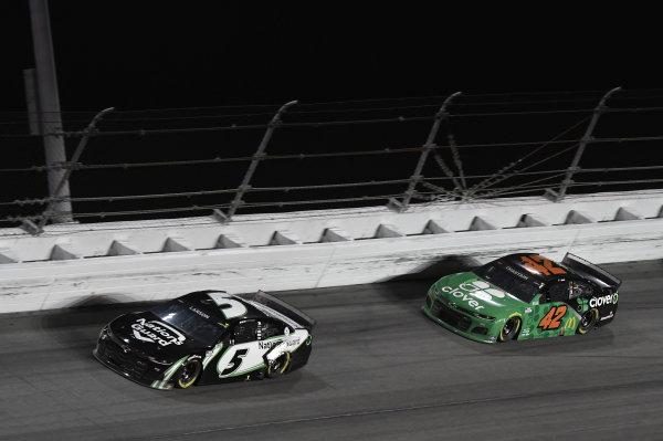#5: Kyle Larson, Hendrick Motorsports, Chevrolet Camaro NationsGuard, #42: Ross Chastain, Chip Ganassi Racing, Chevrolet Camaro Clover