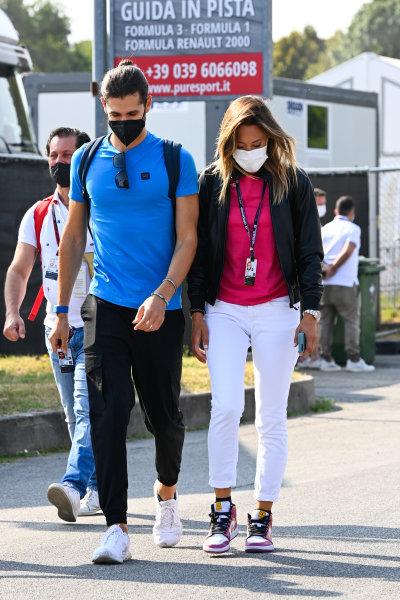 Antonio Giovinazzi, Alfa Romeo Racing, and Sky Italia Italian television host Mara Sangiorgio