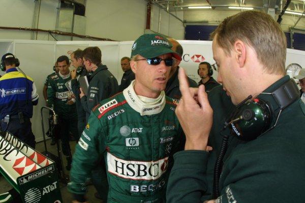 2001 European Grand Prix. FRIDAY PRACTICENurburgring, Luxembourg. 22nd June 2001Eddie Irvine, Jaguar R2 - portrait.World Copyright - LAT Photographicref: 8 9 MB Digital File Only