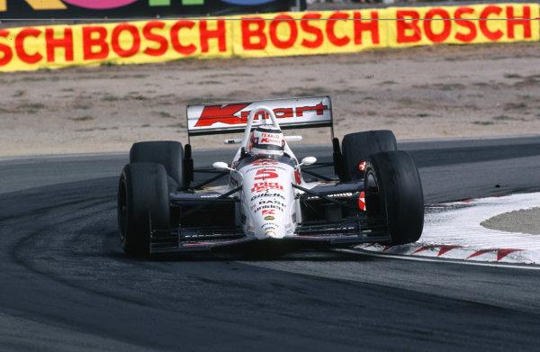 1993 CART IndyCar SeriesLaguna Seca, CA. USA. 3rd October 1993Nigel Mansell, Lol T93/00 Cosworth