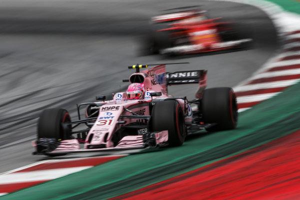 Esteban Ocon (FRA) Force India VJM10 at Formula One World Championship, Rd9, Austrian Grand Prix, Race, Spielberg, Austria, Sunday 9 July 2017. BEST IMAGE