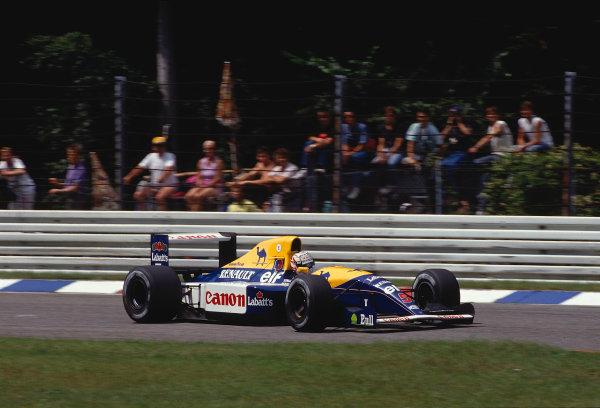 1991 German Grand Prix.Hockenheim, Germany.26-28 July 1991.Nigel Mansell (Williams FW14 Renault) 1st position.Ref-91 GER 12.World Copyright - LAT Photographic
