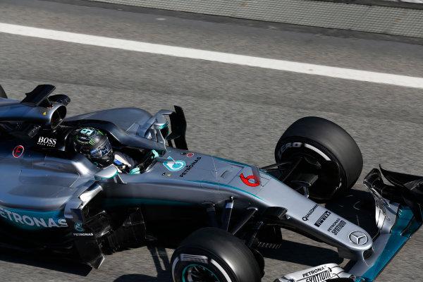 Circuit de Catalunya, Barcelona, Spain Thursday 25 February 2016. Nico Rosberg, Mercedes F1 W07 Hybrid. World Copyright: Alastair Staley/LAT Photographic ref: Digital Image _R6T1132