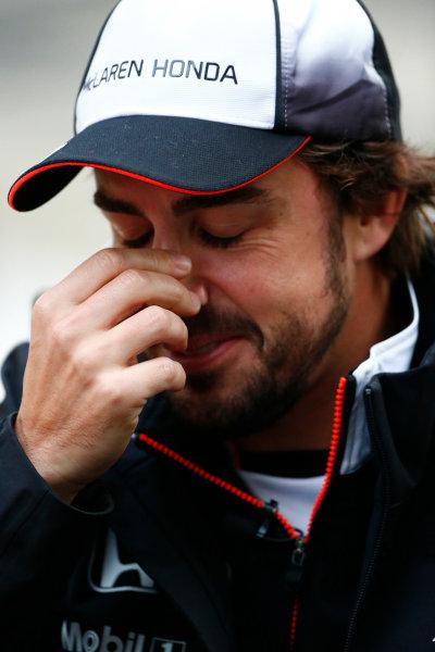 Sochi Autodrom, Sochi, Russia. Friday 29 April 2016. Fernando Alonso, McLaren. World Copyright: Andy Hone/LAT Photographic ref: Digital Image _ONY7561