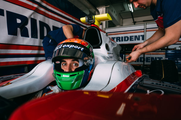 Bahrain International Circuit, Sakhir, Bahrain. Wednesday 29 March 2017 Sergio Canamasas (ESP) Trident  Photo: Malcolm Griffiths/FIA Formpula 2 ref: Digital Image DSCF5787