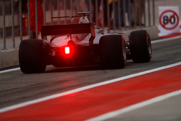Bahrain International Circuit, Sakhir, Bahrain.  Wednesday 19 April 2017. Kevin Magnussen, Haas VF-17 Ferrari.  World Copyright: Glenn Dunbar/LAT Images ref: Digital Image _X4I4908