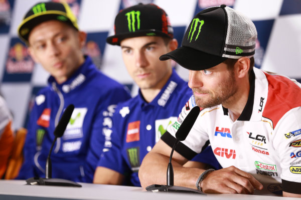 2017 MotoGP Championship - Round 3 Circuit of the Americas, Austin, Texas, USA Thursday 20 April 2017 Cal Crutchlow, Team LCR Honda World Copyright: Gold and Goose Photography/LAT Images ref: Digital Image 500-1374