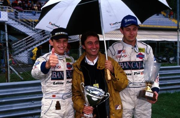 Antonio Garcia (ESP) (left) Adrian Campos (MEX) (centre) and Patrice Gay (right).Open Telefonica Nissan Championship, Monza, Italy, 1 October 2001