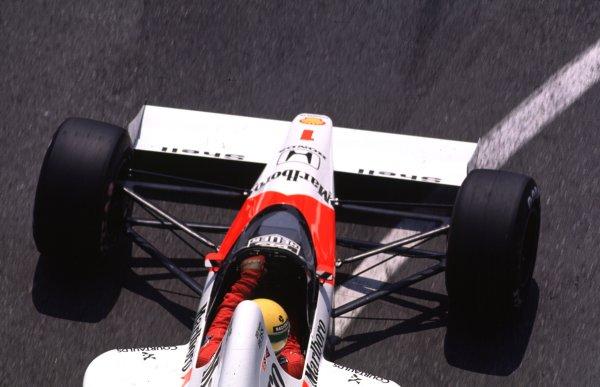 1989 Monaco Grand Prix.Monte Carlo, Monaco.4-7 May 1989.Ayrton Senna (McLaren MP4/5 Honda) 1st position.World Copyright - LAT Photographic