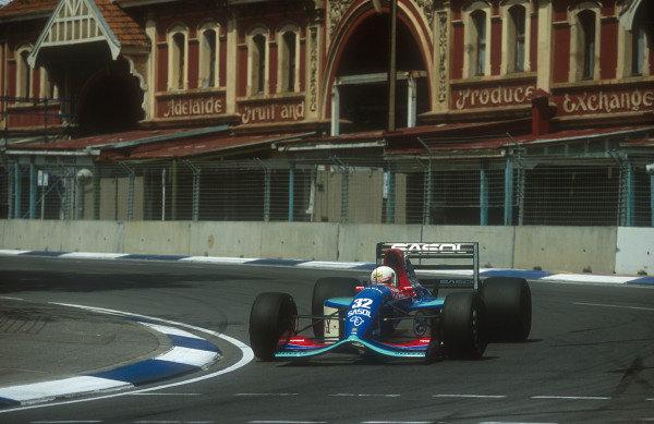 1992 Australian Grand Prix.Adelaide, Australia.6-8 November 1992.Stefano Modena (Jordan 192 Yamaha) 6th position. This was his last Grand Prix.Ref-92 AUS 15.World Copyright - LAT Photographic