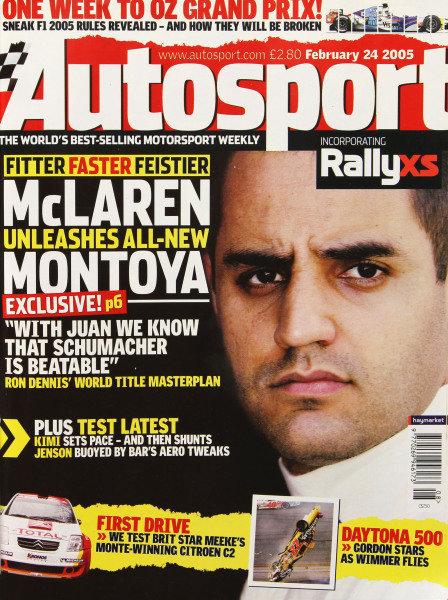 Cover of Autosport magazine, 24th February 2005