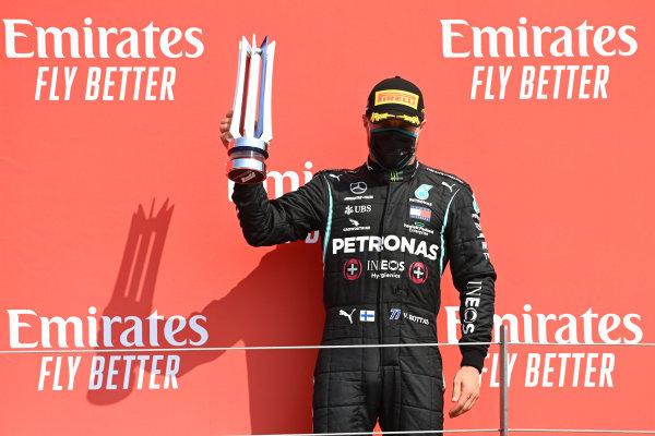 Valtteri Bottas, Mercedes-AMG Petronas F1, celebrates on the podium