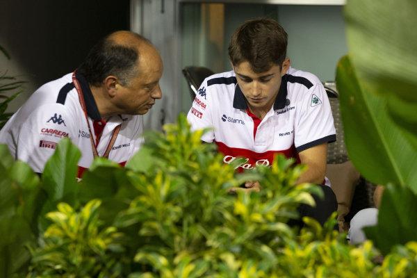 Frederic Vasseur, Alfa Romeo Sauber F1 Team, Team Principal and Charles Leclerc, Alfa Romeo Sauber F1 Team