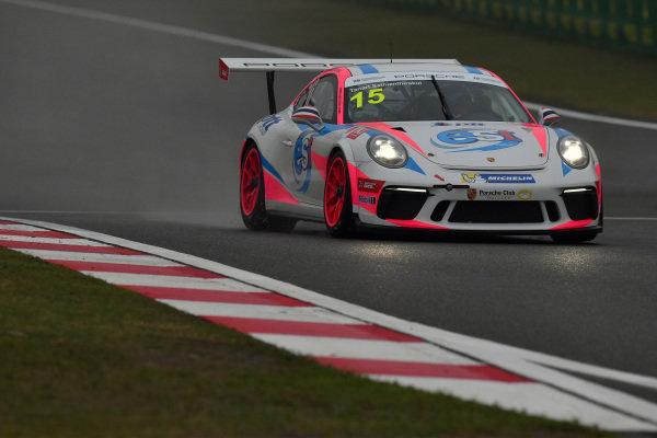 Tanart Sathienthirakul (THA) est cola PTT at Porsche Carrera Cup Asia, Shanghai, China, 13-15 April 2018.
