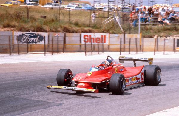 1979 South African Grand Prix.Kyalami, South Africa.1-3 March 1979.Gilles Villeneuve (Ferrari 312T4) 1st position.Ref-79 SA 04.World Copyright - LAT Photographic