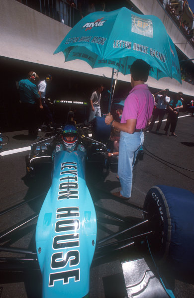 1990 French Grand Prix.Paul Ricard, Le Castellet, France. 6-8 July 1990.Ivan Capelli (Leyton House CG901 Judd) 2nd position. Ref-90 FRA 15.World Copyright - LAT Photographic