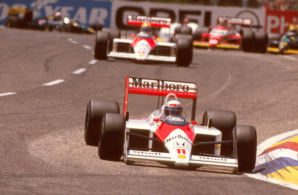 Paul Ricard, Le Castellet, France.1-3 July 1988.Alain Prost (McLaren MP4/4 Honda) 1st position. Ref-88 FRA 13.World Copyright - LAT Photographic