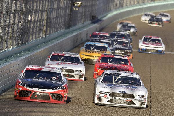 #20: Christopher Bell, Joe Gibbs Racing, Toyota Supra Rheem-Watts and #98: Chase Briscoe, Stewart-Haas Racing, Ford Mustang Ford Performance