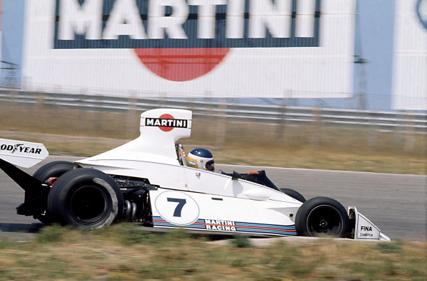 Zandvoort, Holland. 22 June 1975.Carlos Reutemann, Brabham BT44B-Ford, 4th position, action.World Copyright: LAT PhotographicRef: 35mm transparency 75HOL