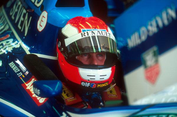 Hungaroring, Hungary.11-13 August 1995.Johnny Herbeert (Benetton Renault) 4th position.Ref-95 HUN 09.World Copyright - LAT Photographic