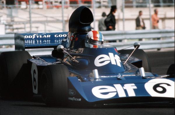 Monte Carlo, Monaco.31/5-3/6 1973.Francois Cevert (Tyrrell 006 Ford) 4th position.Ref-73 MON 51.World Copyright - LAT Photographic
