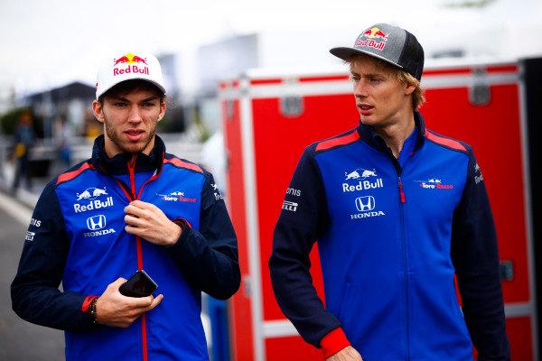 Brendon Hartley, Toro Rosso, and Pierre Gasly, Toro Rosso.