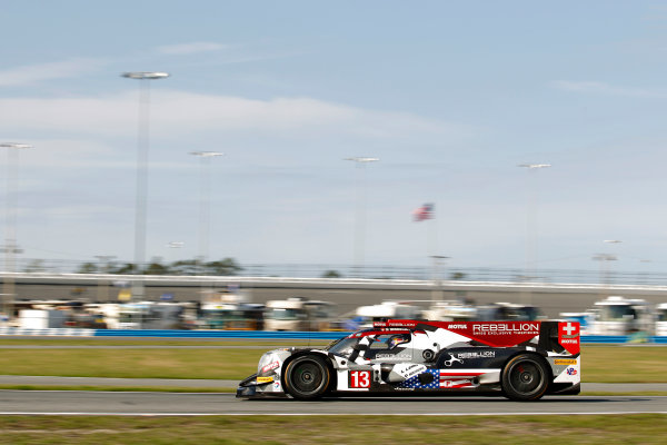 2017 Rolex 24 Hours. Daytona, Florida, USA Friday 27 January 2017. #13 Rebellion Racing ORECA 07: Neel Jani, S?bastien Buemi, St?phane Sarrazin, Nick Heidfeld World Copyright: Alexander Trienitz/LAT Images ref: Digital Image 2017-24h-Daytona-AT2-1725