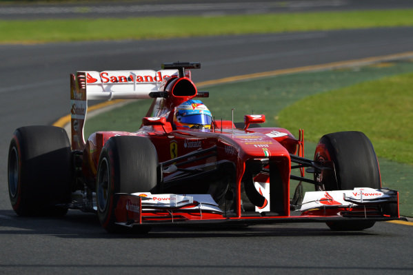 Fernando Alonso (ESP) Ferrari F138. Formula One World Championship, Rd1, Australian Grand Prix, Practice, Albert Park, Melbourne, Australia, Friday 15 March 2013.
