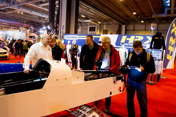 Autosport International Exhibition.  National Exhibition Centre, Birmingham, UK. Sunday 17 January 2016.  Fans look at the displays. World Copyright: Mike Hoyer/LAT Photographic. ref: Digital Image EL0G9174