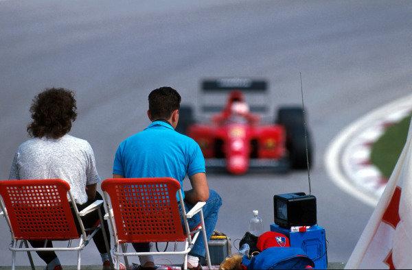 A group of fans San Marino Grand Prix, Imola, 13 May 1990