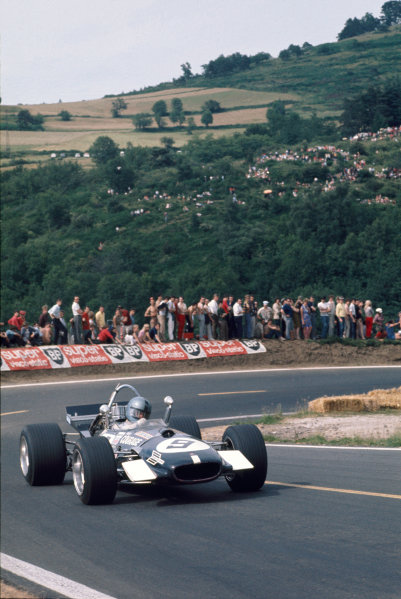 Clermont-Ferrand, France. 6 July 1969 Piers Courage, Brabham BT26-Ford, retired, action. World Copyright: LAT Photographic. Ref: 69FRA25.