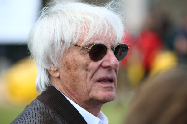 2017 Goodwood Festival of Speed. Goodwood Estate, West Sussex, England. 30th June - 2nd July 2017. Bernie Ecclestone (GBR)  World Copyright : JEP/LAT Images