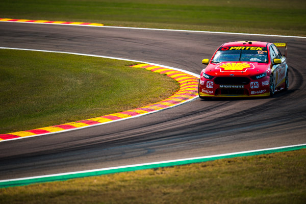 2017 Supercars Championship Round 6.  Darwin Triple Crown, Hidden Valley Raceway, Northern Territory, Australia. Friday June 16th to Sunday June 18th 2017. Fabian Coulthard drives the #12 Shell V-Power Racing Team Ford Falcon FGX. World Copyright: Daniel Kalisz/LAT Images Ref: Digital Image 160617_VASCR6_DKIMG_0225.JPG