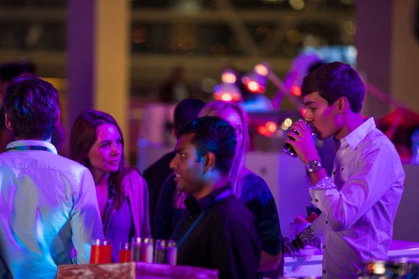 2017 Awards Evening. Yas Marina Circuit, Abu Dhabi, United Arab Emirates. Sunday 26 November 2017. George Russell  Photo: Sam Bloxham/FIA Formula 2/GP3 Series. ref: Digital Image _J6I2771