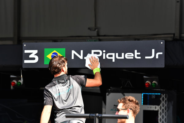 2017/2018 FIA Formula E Championship. Riound 1 - Hong Kong, China. Saturday 1 December 2018. Nelson Piquet Jr. (BRA), Panasonic Jaguar Racing, Jaguar I-Type II Photo: Mark Sutton/LAT/Formula E ref: Digital Image DSC_7503