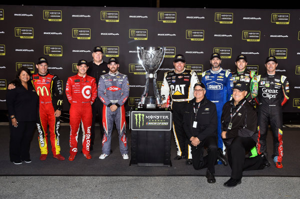 Monster Energy NASCAR Cup Series Federated Auto Parts 400 Richmond Raceway, Richmond, VA USA Saturday 9 September 2017 The Chevrolet drivers with the Monster Energy Cup Series Trophy World Copyright: Nigel Kinrade LAT Images