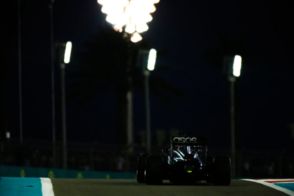 Yas Marina Circuit, Abu Dhabi, United Arab Emirates. Saturday 22 November 2014. Jenson Button, McLaren MP4-29 Mercedes. World Copyright: Glenn Dunbar/LAT Photographic. ref: Digital Image _W2Q5713