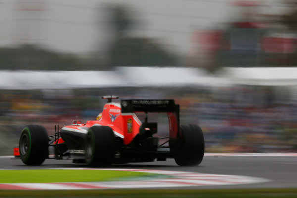 Suzuka Circuit, Suzuka, Japan.  Sunday 5 October 2014. Jules Bianchi, Marussia MR03 Ferrari. World Copyright: Charles Coates/LAT Photographic. ref: Digital Image _J5R5805