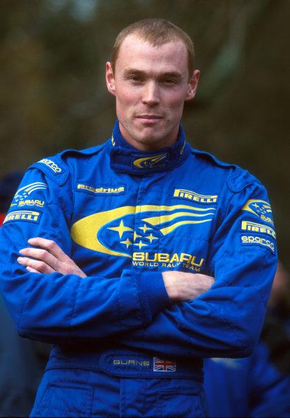 Rally of Great Britain. 22nd November 2000.Richard Burns - Portrait.World Copyright: McKlein/ LAT Photographic