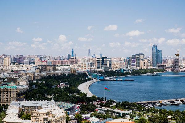 2017 FIA Formula 2 Round 4. Baku City Circuit, Baku, Azerbaijan. Wednesday 21 June 2017. A view of the city. Photo: Zak Mauger/FIA Formula 2. ref: Digital Image _56I5958