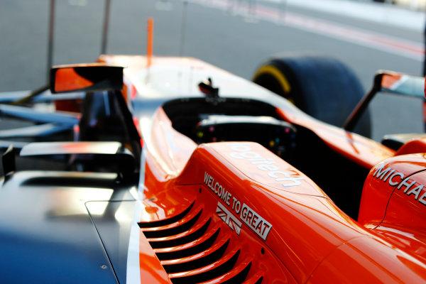 Baku City Circuit, Baku, Azerbaijan. Thursday 22 June 2017. McLaren cockpit protection detail. World Copyright: Steven Tee/LAT Images ref: Digital Image _R3I1398