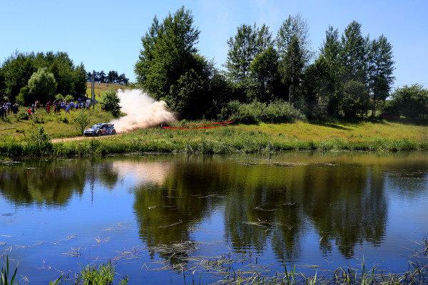 Andreas Mikkelsen (NOR) / Ola Floene (NOR) Volkswagen Polo R WRC at FIA World Rally Championship, Rd7, Lotos 71st Rally Poland, Day Two, Mikolajki, Poland, Saturday 4 July 2015.