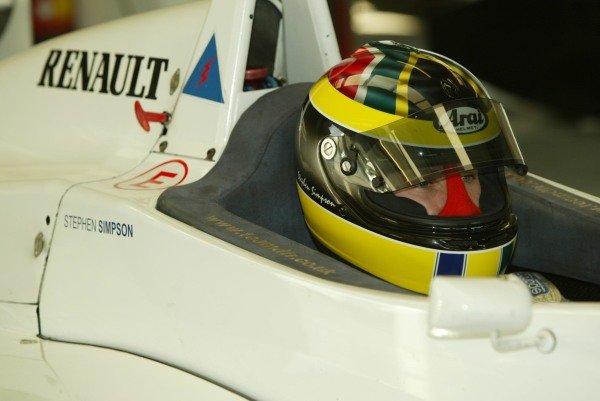 Stephen Simpson (GBR) tests a Formula Renault for Team JLR5 December 2003General Testing, Silverstone, EnglandDIGITAL IMAGE