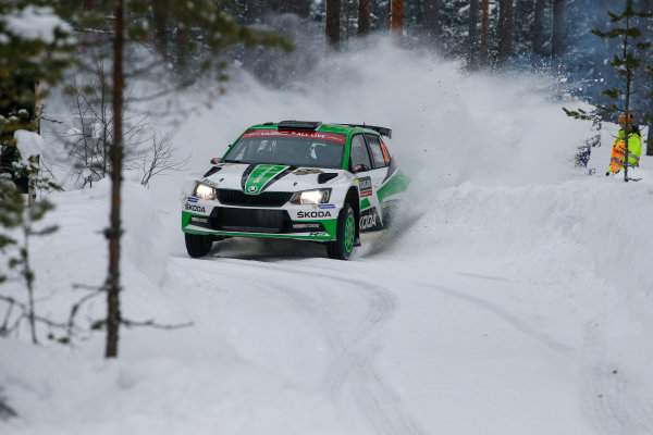 2018 FIA World Rally Championship, Round 02, Rally Sweden 2018, February 15-18, 2018. Ole Christian Veiby, Skoda, Action Worldwide Copyright: McKlein/LAT