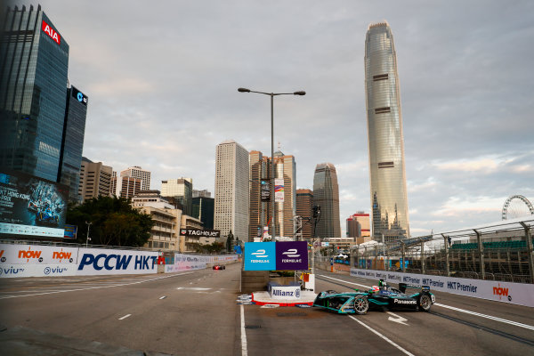 2017/2018 FIA Formula E Championship. Round 1 - Hong Kong, China. Saturday 02 December 2017. Nelson Piquet Jr. (BRA), Panasonic Jaguar Racing, Jaguar I-Type II. Photo: Sam Bloxham/LAT/Formula E ref: Digital Image _J6I3810