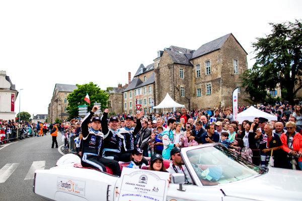 2016 Le Mans 24 Hours. Circuit de la Sarthe, Le Mans, France. Friday 17 June 2016. SRT41 By Oak Racing / Morgan LMP2 - Nissan - Frederic Sausset (FRA), Christophe Tinseau (FRA), Jean-Bernard Bouvet (FRA).  World Copyright: Zak Mauger/LAT Photographic ref: Digital Image _79P6532