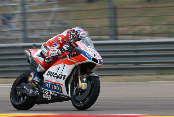 2017 MotoGP Championship - Round 14 Aragon, Spain. Friday 22 September 2017 Andrea Dovizioso, Ducati Team World Copyright: Gold and Goose / LAT Images ref: Digital Image 693783